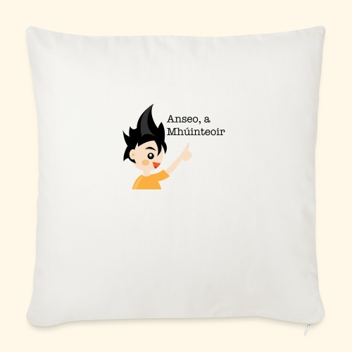 anseo, a mhúinteoir - Sofa pillowcase 17,3'' x 17,3'' (45 x 45 cm)
