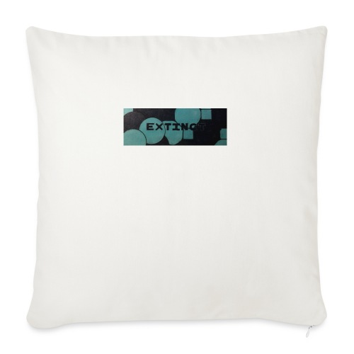 Extinct box logo - Sofa pillowcase 17,3'' x 17,3'' (45 x 45 cm)