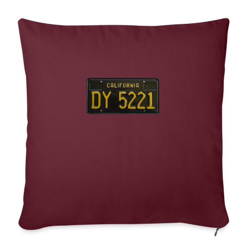 CALIFORNIA BLACK LICENCE PLATE - Sofa pillowcase 17,3'' x 17,3'' (45 x 45 cm)