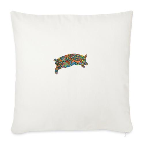 Time for a lucky jump - Sofa pillowcase 17,3'' x 17,3'' (45 x 45 cm)