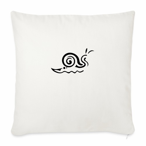 Snail tattoo - Sofa pillowcase 17,3'' x 17,3'' (45 x 45 cm)
