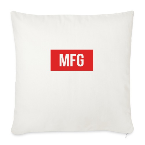 MFG on Youtube Logo - Sofa pillowcase 17,3'' x 17,3'' (45 x 45 cm)