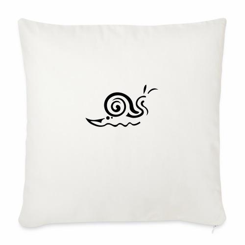 Snail tattoo - Sofa pillowcase 17,3'' x 17,3'' (45 x 45 cm)