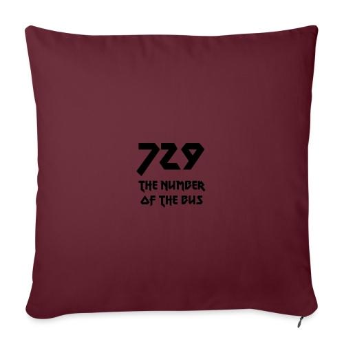 729 grande nero - Copricuscino per divano, 45 x 45 cm