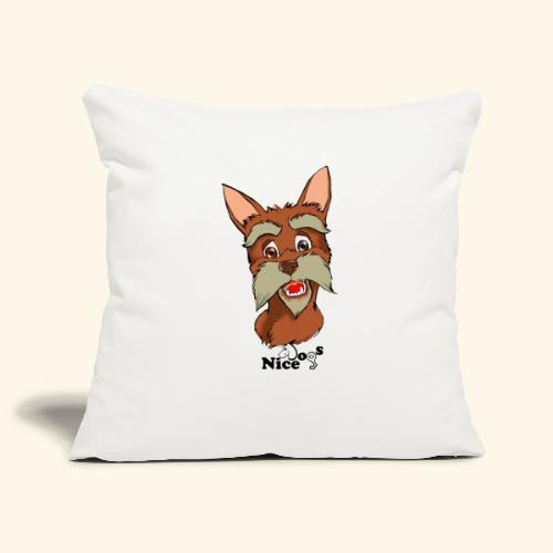 Nice Dogs schnauzer - Copricuscino per divano, 45 x 45 cm