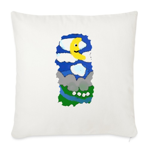 smiling moon and funny sheep - Sofa pillowcase 17,3'' x 17,3'' (45 x 45 cm)