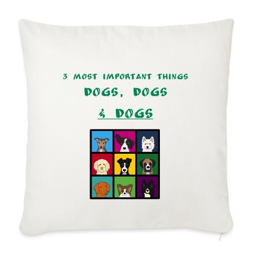3 most important things - - Sohvatyynyn päällinen 45 x 45 cm