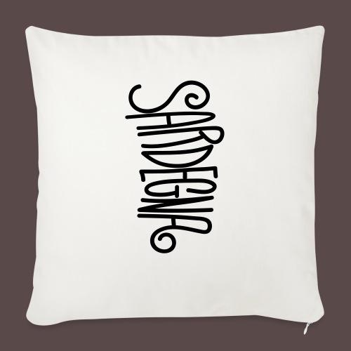 Sardegna Calligrafica - Copricuscino per divano, 45 x 45 cm