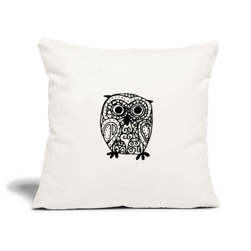 Art Deco Space Owl - Soffkuddsöverdrag, 45 x 45 cm