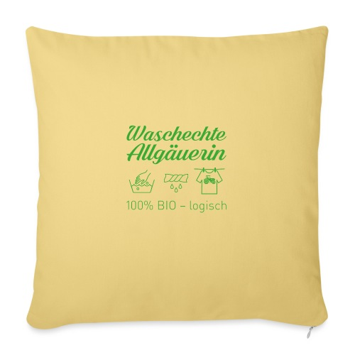 Waschechte Allgäuerin grün - Sofakissenbezug 44 x 44 cm
