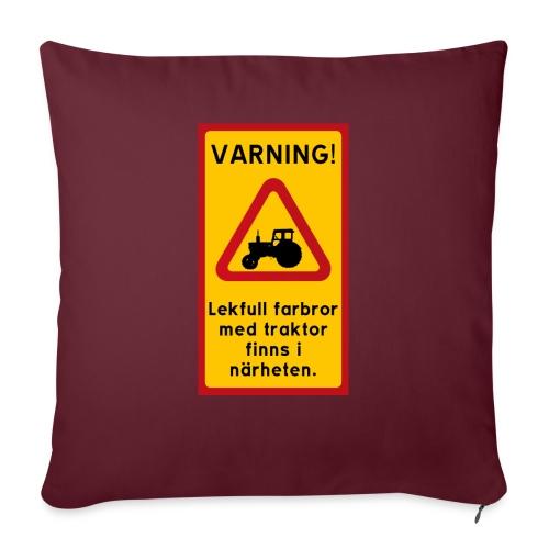 Varning - Soffkuddsöverdrag, 45 x 45 cm