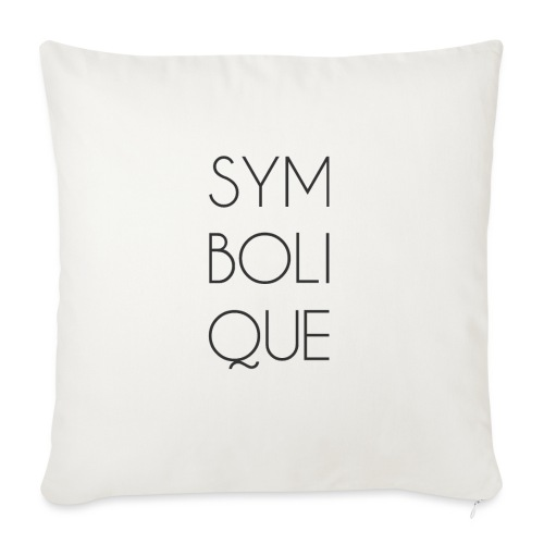 Symbolique - Housse de coussin décorative 45x 45cm