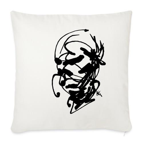 face - Sofa pillowcase 17,3'' x 17,3'' (45 x 45 cm)