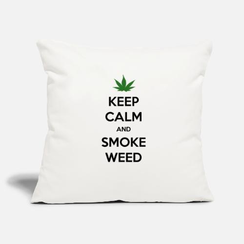 Keep Calm and Smoke Weed (Blijf Kalm en Rook Wiet) - Sierkussenhoes, 45 x 45 cm