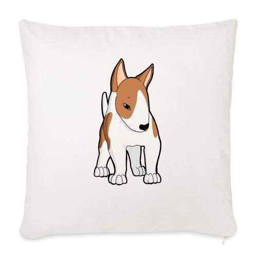 Bull Terrier bianco fulvo - Copricuscino per divano, 45 x 45 cm