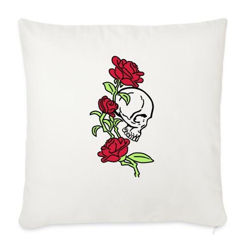 teschio e rose es123_2 - Copricuscino per divano, 45 x 45 cm