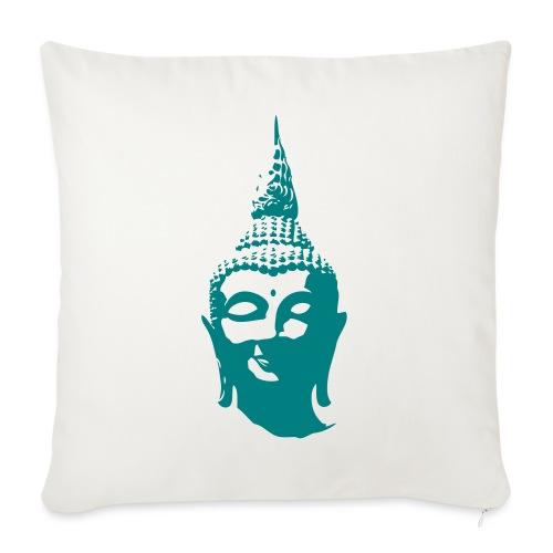 Boeddha hoofd - Sierkussenhoes, 45 x 45 cm