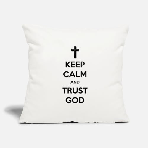 Keep Calm and Trust God (Vertrouw op God) - Sierkussenhoes, 45 x 45 cm