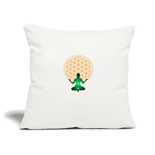fleur de vie yoga n°4 - Housse de coussin décorative 45x 45cm