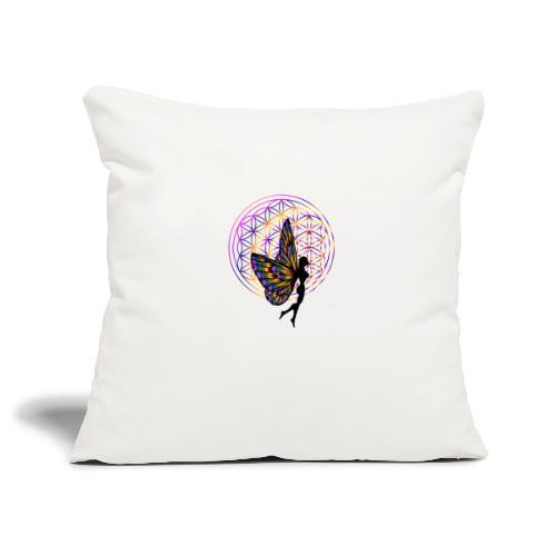 fleur de vie fée - Housse de coussin décorative 45x 45cm