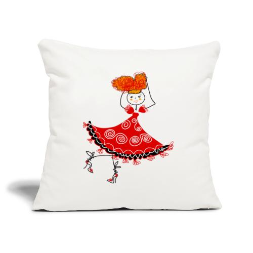 Ballerina - Copricuscino per divano, 45 x 45 cm