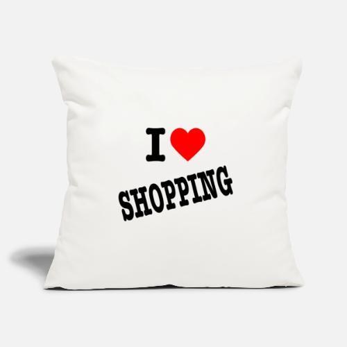 I Love Shopping (Ik Hou van Winkelen) - Sierkussenhoes, 45 x 45 cm