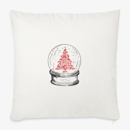 Crystal snow globe | Geeky christmas tree - Sofa pillowcase 17,3'' x 17,3'' (45 x 45 cm)