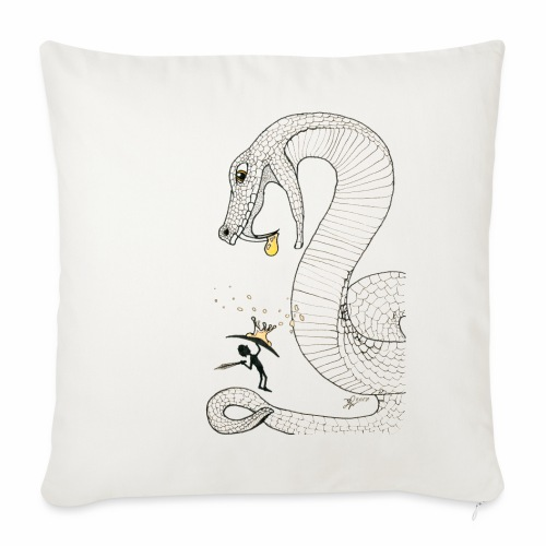 Poison - Fight against a giant poisonous snake - Sofa pillowcase 17,3'' x 17,3'' (45 x 45 cm)