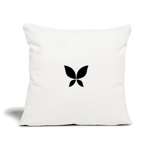 Stahlzart Butterfly Black - Sofakissenbezug 44 x 44 cm