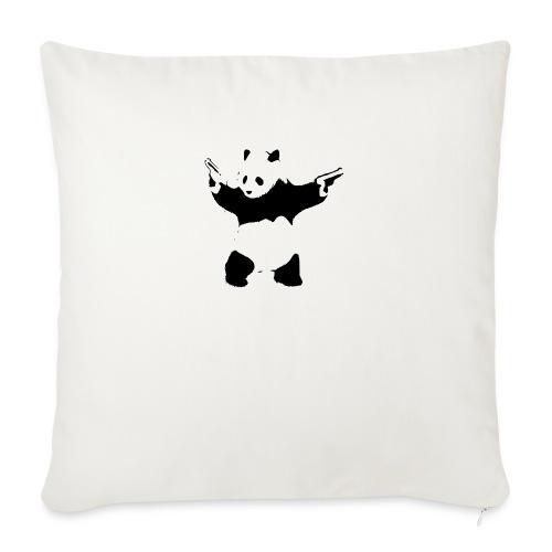 oso panda pistolas - Funda de cojín, 45 x 45 cm
