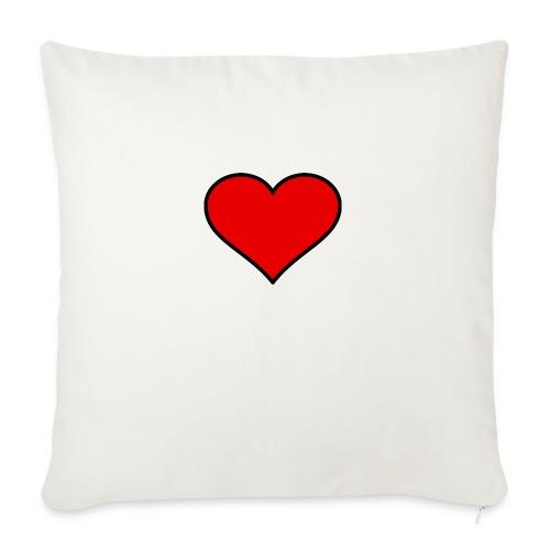 big heart clipart 3 - Soffkuddsöverdrag, 45 x 45 cm