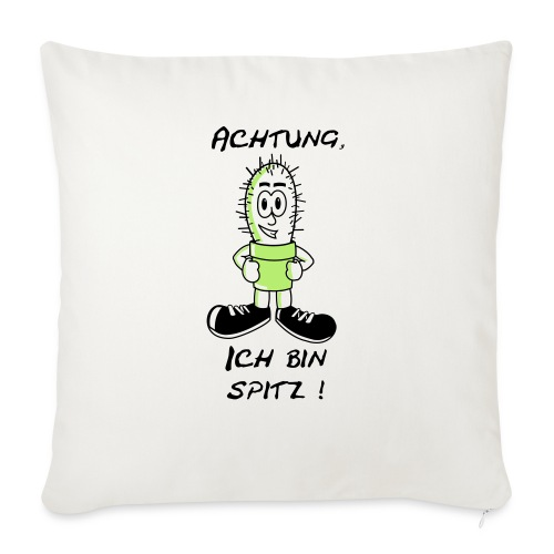 Kaktus: Ich bin spitz - Sofakissenbezug 44 x 44 cm