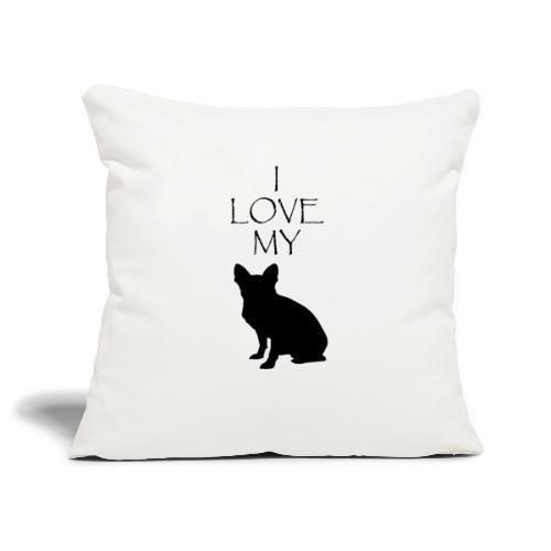 ilovemybulldog - Housse de coussin décorative 45x 45cm