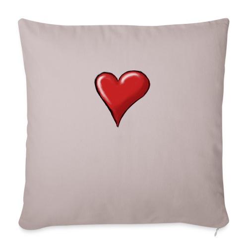 Love (coeur) - Housse de coussin décorative 45x 45cm