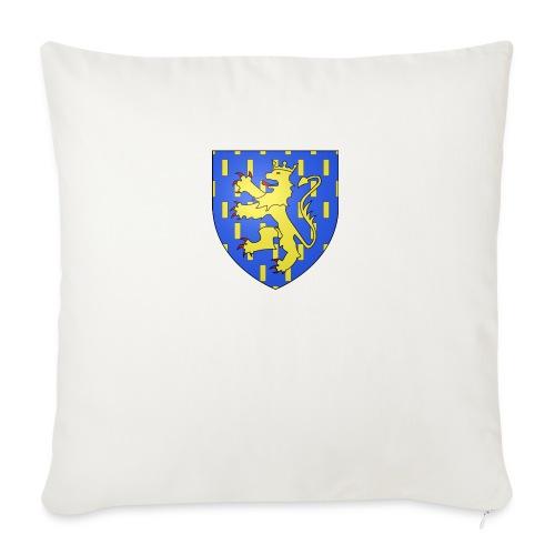 Blason de la Franche-Comté avec fond transparent - Housse de coussin décorative 45x 45cm