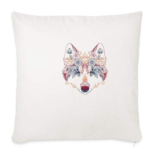 Wolf Wow - Funda de cojín, 45 x 45 cm