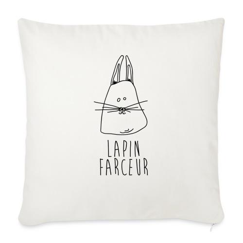 Lapin farceur - Housse de coussin décorative 45x 45cm