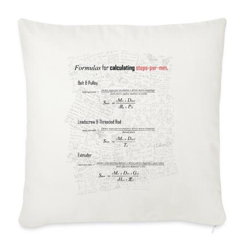 Formulas for calculating steps-per-mm. - Sofa pillowcase 17,3'' x 17,3'' (45 x 45 cm)