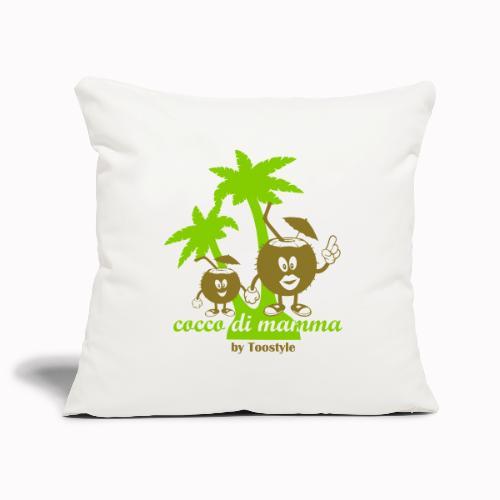 cocco di mamma tra le palme - Copricuscino per divano, 45 x 45 cm