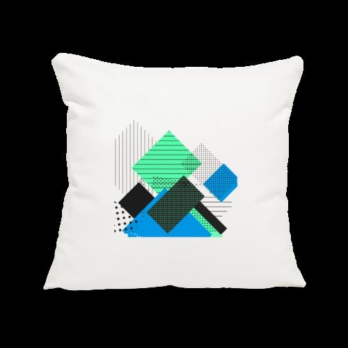 Abstract rectangles pastel - Sofa pillowcase 17,3'' x 17,3'' (45 x 45 cm)