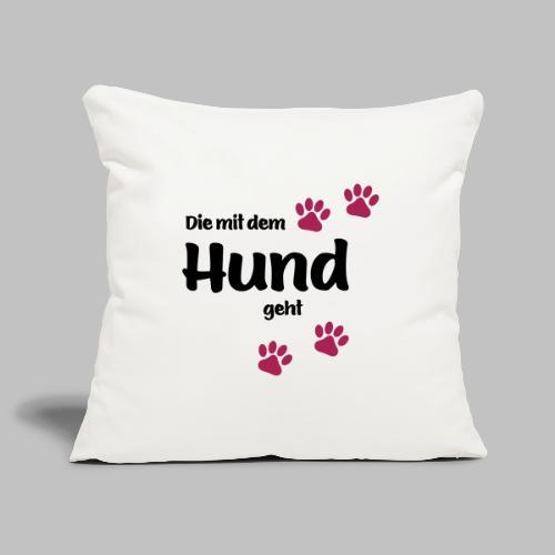 Die Mit Dem Hund Geht - Edition Colored Paw - Sofakissenbezug 44 x 44 cm