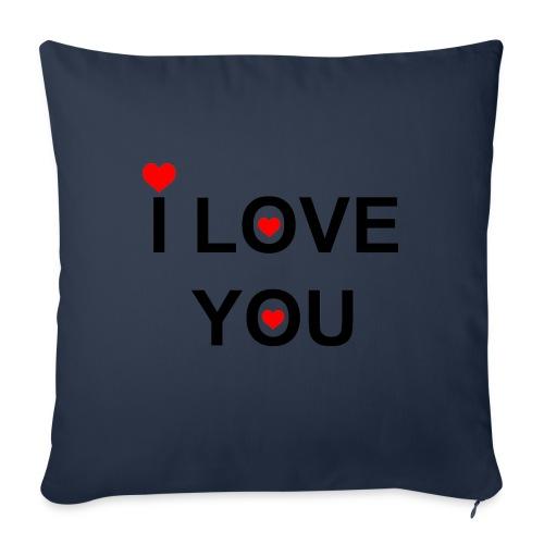 iloveyou - Sierkussenhoes, 45 x 45 cm