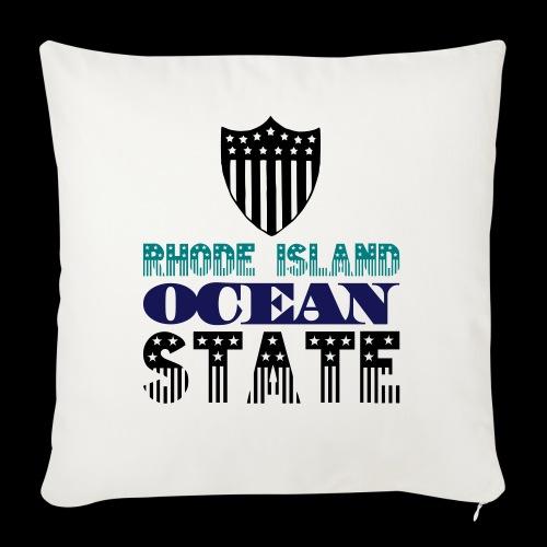 rhode island ocean state - Sofa pillowcase 17,3'' x 17,3'' (45 x 45 cm)