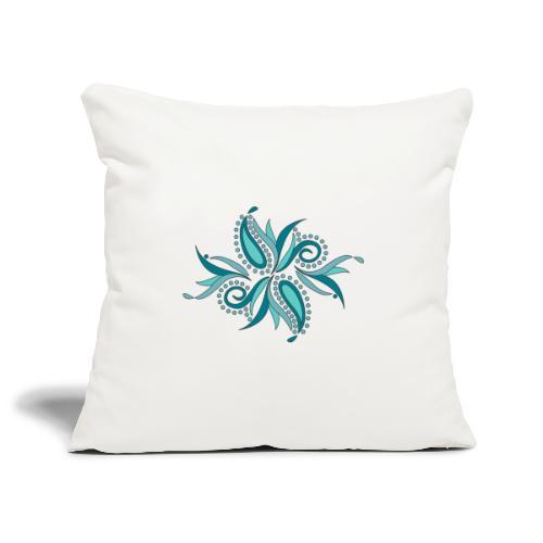 petali e foglie astratte - Copricuscino per divano, 45 x 45 cm