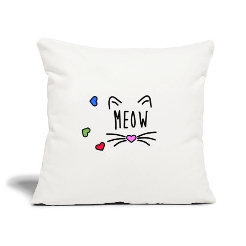 Meow - Funda de cojín, 45 x 45 cm