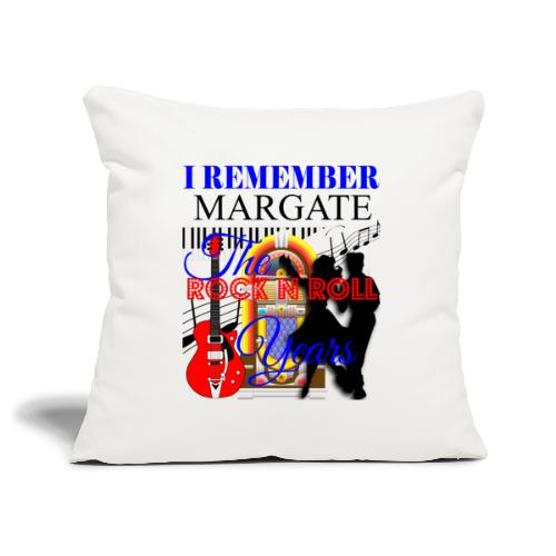 REMEMBER MARGATE - THE ROCK ROLL YEARS 1950's - Sofa pillowcase 17,3'' x 17,3'' (45 x 45 cm)