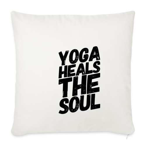 yoga heals the soul - Sierkussenhoes, 45 x 45 cm