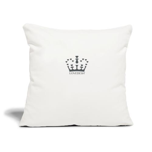 LD crown logo hearts png - Sofa pillowcase 17,3'' x 17,3'' (45 x 45 cm)