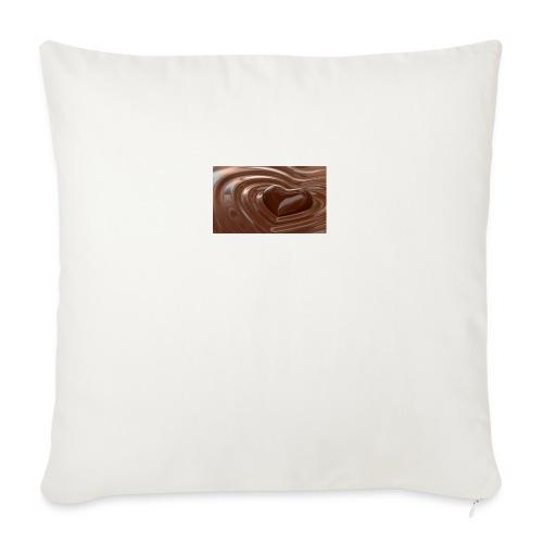 Choklad T-shirt - Soffkuddsöverdrag, 45 x 45 cm