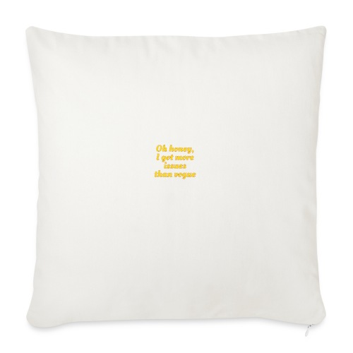 Oh honey. - Sofa pillowcase 17,3'' x 17,3'' (45 x 45 cm)